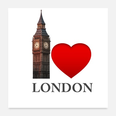 Lieblich Liebe London - Big Ben-Colourful - Poster 60x60 cm