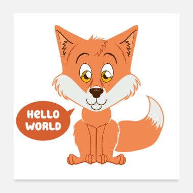 Baby fox as a gift for childbirth - Poster 24 x 24 (60x60 cm)