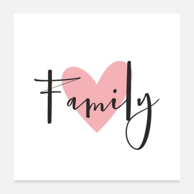 Party Family love heart gift decoration - Poster