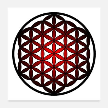 Yoga Flower of Life, Esoteric, Flower of Life, Yoga - Poster 24 x 24 (60x60 cm)