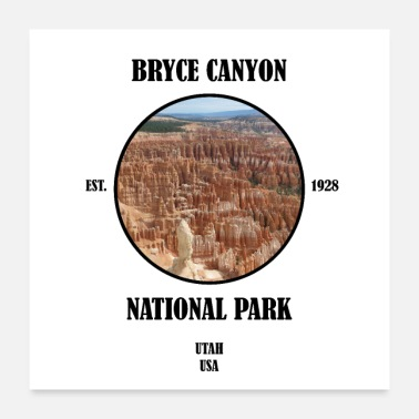 National Bryce Canyon, parc national, utah, usa - Poster 60 x 60 cm