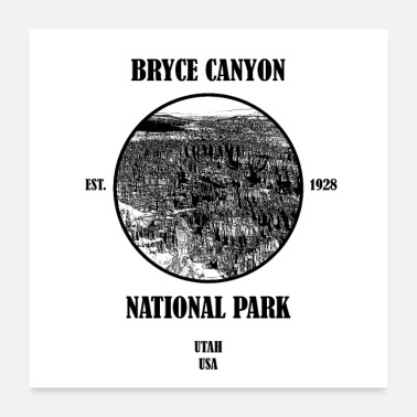 National Bryce Canyon National Park USA - Poster 60x60 cm