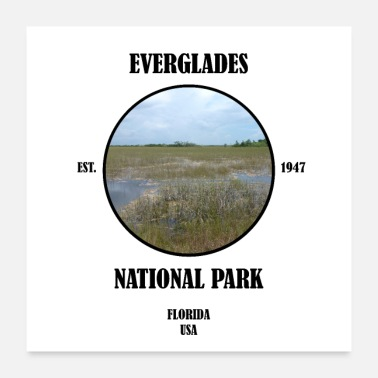 Tourist Everglades Nationalpark Florida Miami Key West USA - Poster 60x60 cm