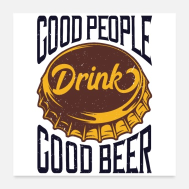 Wichteln Good People - Good Beer - Poster