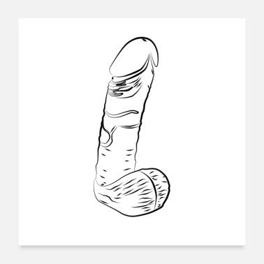 Gezeichneter penis