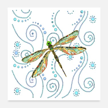 Image Dragonfly - Poster 24 x 24 (60x60 cm)