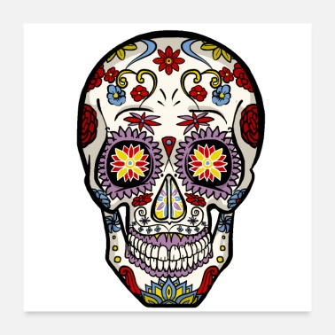 Makeup Skull Mexico - Poster