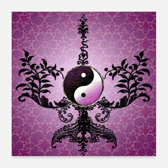 Symbol  Posters - The sign yin and yang - Posters white