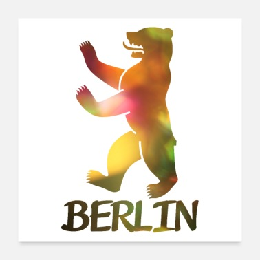 Berlin Bear of Berlin - Poster 24 x 24 (60x60 cm)