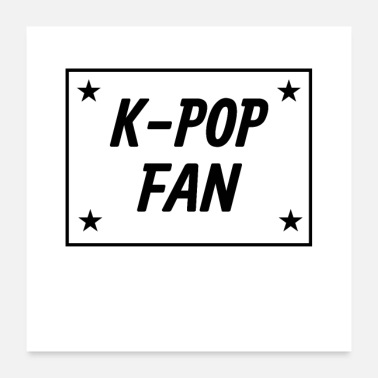 Fan K-Pop Fan Design - con stelle - Poster 60x60 cm