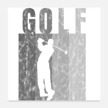 Punch Golf Golf Shirt Presentidé Golfer Punch - Poster