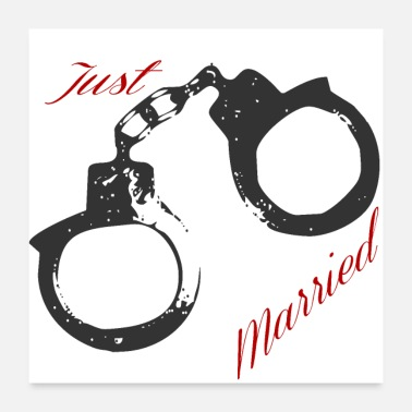 Marry Just Married - Poster 24 x 24 (60x60 cm)
