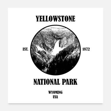 National Yellowstone National Park Wyoming USA - Poster 60x60 cm