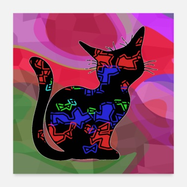 I Love chat - Poster 60 x 60 cm