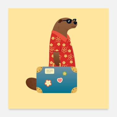 Travel Otter travel travel world travel vacation - Poster