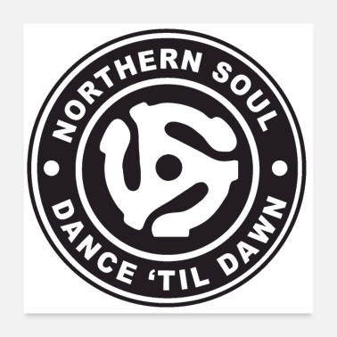 Recreational Northern Soul - Dance Til Dawn logo - Poster 24 x 24 (60x60 cm)