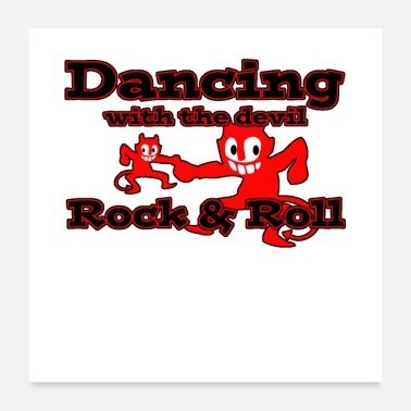 Rockabilly Dancing with the devil - Poster 60x60 cm
