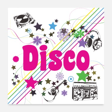 70 Disco 70s - Oldies 70s - 70s Party - Poster