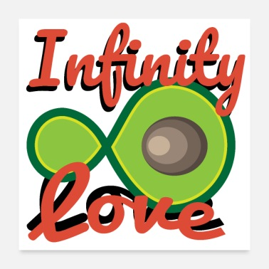 Vegan Avocado Infinity Love Partner Couple - Gift Idea - Poster 24 x 24 (60x60 cm)