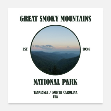 Usa Great Smoky Mountains National Park Tennessee USA - Poster 24 x 24 (60x60 cm)