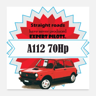 Old Car A112 - straight roads - Poster