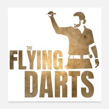 Fly THE FLYING DARTS - Poster 24 x 24 (60x60 cm)
