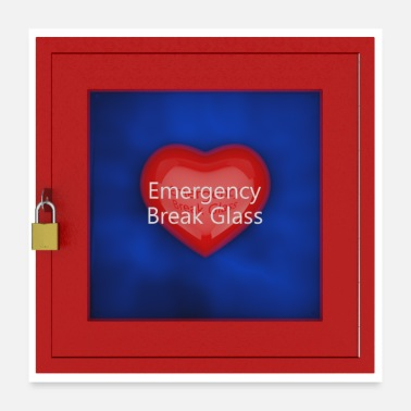 Emergency Emergency break Glass - Poster