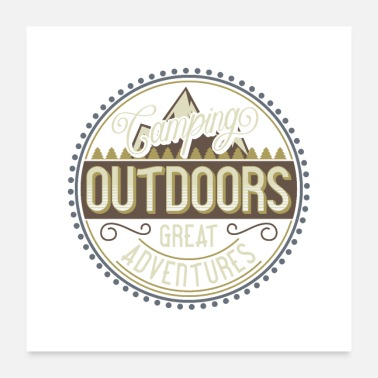 Outdoor Retkeily Outdoor Adventure - Juliste 60x60 cm