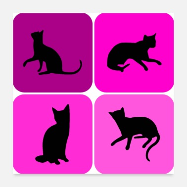 Divers Divers chats chaton chat Kitty, cadeau - Poster 60 x 60 cm