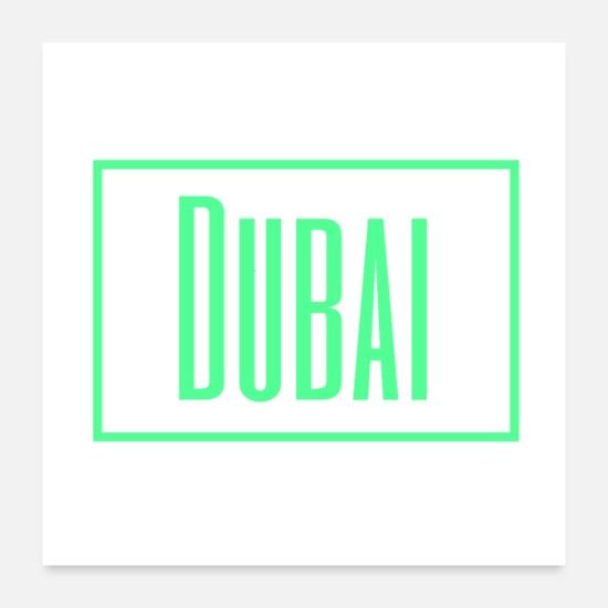 Travel Posters - Dubai - Posters white