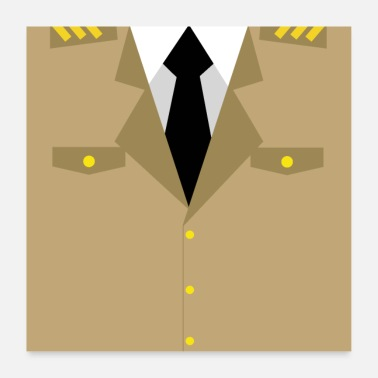 Militare Uniforme militare marrone - regalo idea - Poster