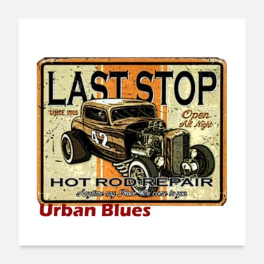 Rockabilly Urban blues - Poster 60x60 cm