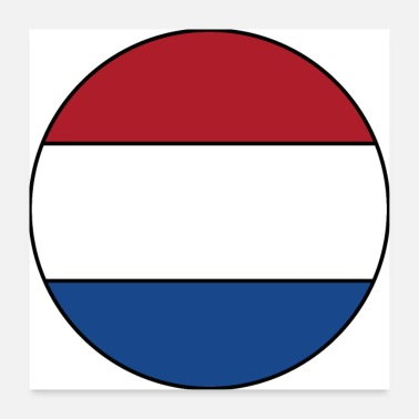 Nederland Nederland Holland Flag Flag Football Fan Shirt - Poster 60x60 cm