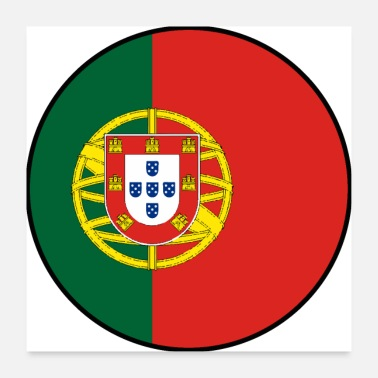 Fanshirt Portugal flag banner cool soccer fan shirt - Poster