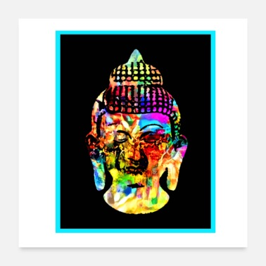 Calm Buddha colored - Poster 24 x 24 (60x60 cm)