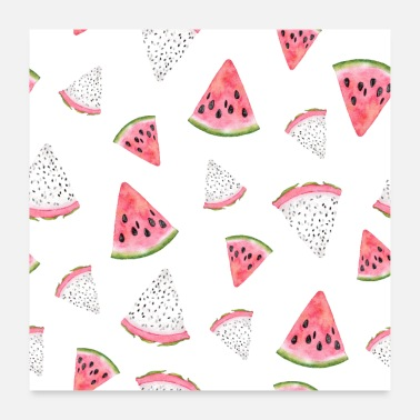 Tasty Watermelon, Melon, Vegan, Healthy, Tasty, Best - Poster
