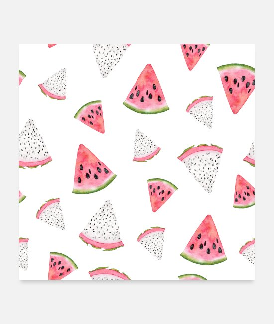 Occasion Posters - Watermelon, Melon, Vegan, Healthy, Tasty, Best - Posters white