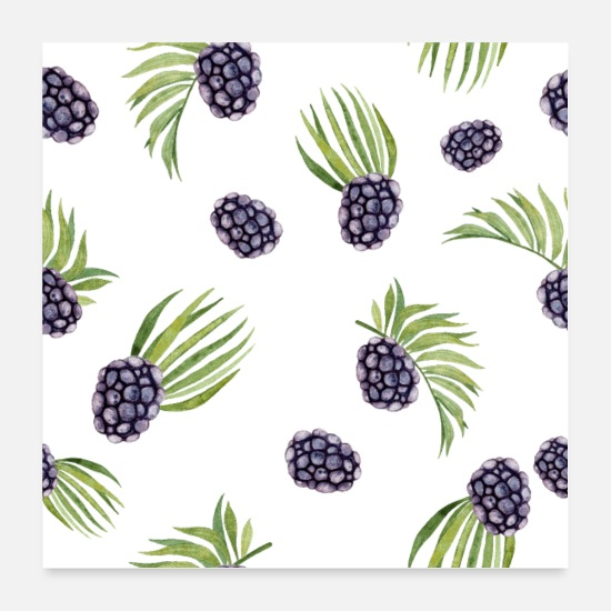 Occasion Posters - Blackberry, raspberry, dark berry, wild berry - Posters white
