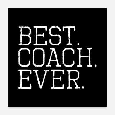 Hockey Best Coach Ever - Poster 60x60 cm