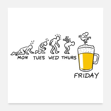 Friday Friday and beer - Poster