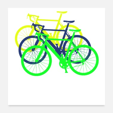 Bicycle Bicycle shadow sillhouette gift cycling - Poster