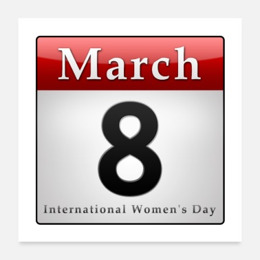 Festtag Calender 8. March Womens Day, Frauentag / englisch - Poster
