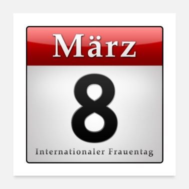 Datum Kalender 8. März, Internationaler Frauentag - Poster