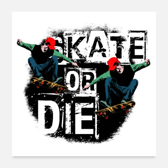 Sk8 Posters - skate - Posters white