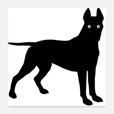 Woof Cartoon bull terrier - Poster