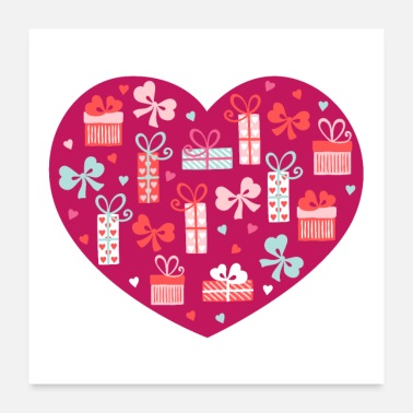 Valentines Day Valentines Day Heart #9 - Package w/ Bow - Poster
