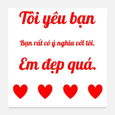 Vietnam Declaration of love in Vietnamese - Poster