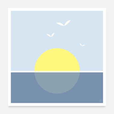 Sea Sunset on the sea - poster - Poster