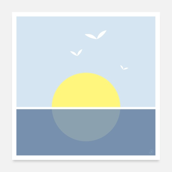 Sea Posters - Sunset on the sea - poster - Posters white