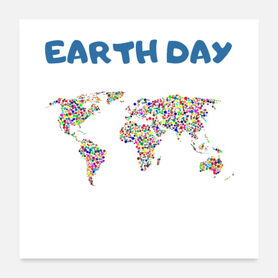 Earth Day Poster - Erd Tag 2019 Earth Day 2019 - Poster Weiß